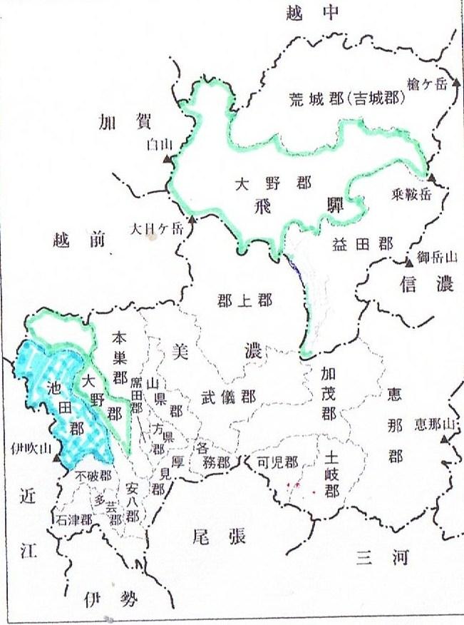 No416壬申の乱 美濃の地名・池田...